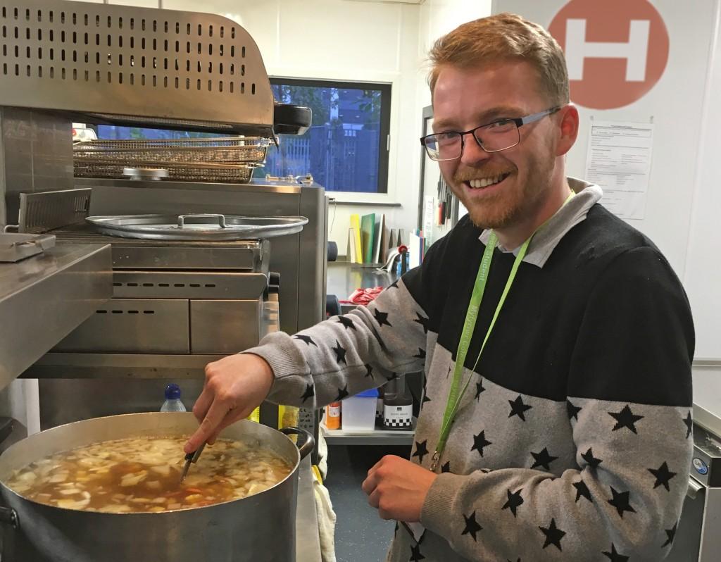 Luke in Huggard Kitchen